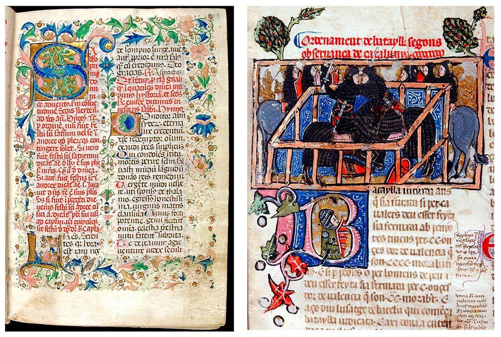 Foli 9r del Breviari de Lleida | Detall del foli 87r del Llibre dels Usatges i Constitucions de Catalunya, 1333-1451