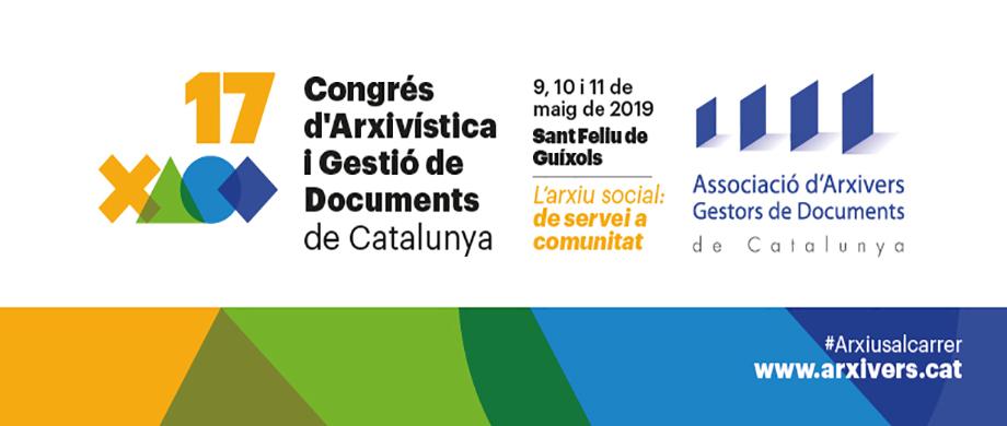 Inscripcions obertes al XVII Congrés d'Arxivística i Gestió de Documents de Catalunya