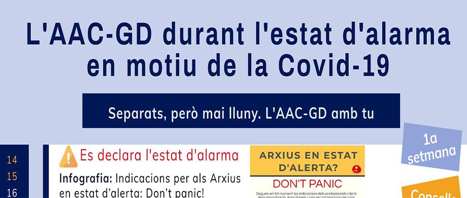 L'AAC-GD durant l'estat d'alarma en motiu de la Covid-19