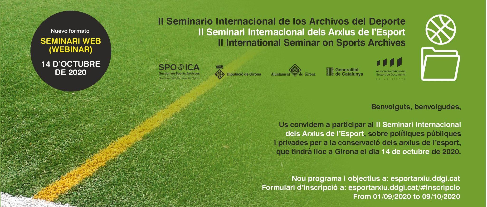II Seminari Internacional dels Arxius de l'Esport (format Webinar)