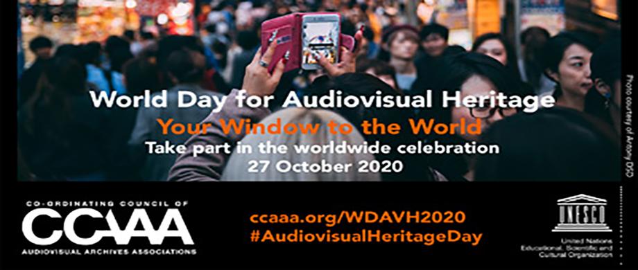 27 d'octubre: celebrem el Dia mundial del patrimoni audiovisual #DiaPatrimoniAudiovisual