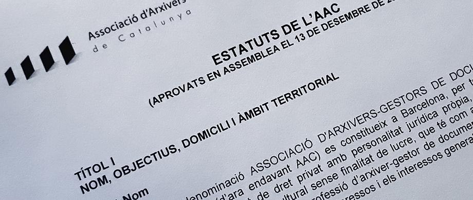 Convocatòria de l'Assemblea General Extraordinària per a la votació dels nous estatuts de l'AAC