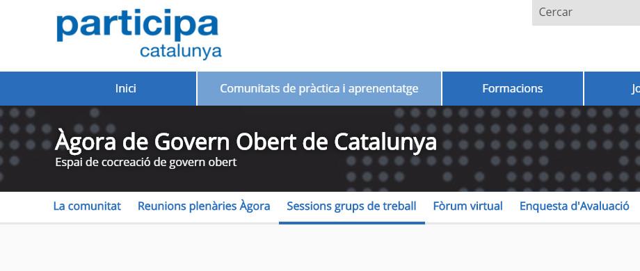Participeu als grups de treball d'Àgora de Govern Obert de Catalunya